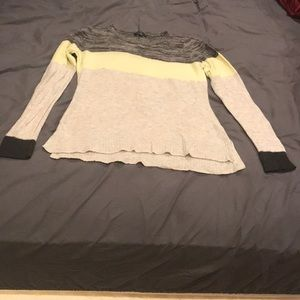 American Eagle Colorblock Green Sweater Shirt